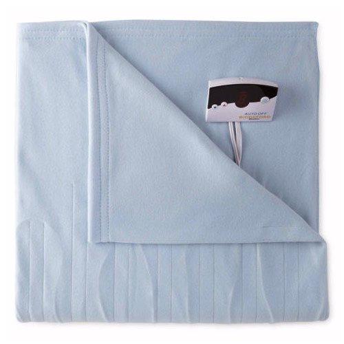 Biddeford 1001-9052106-535 Comfort Knit Fleece Electric Heated Blanket Full Cloud Blue