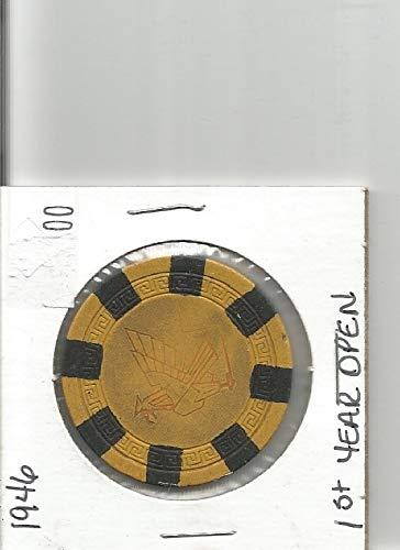 $5 thunderbird casino chip token las vegas nevada rare 1946 first year opened
