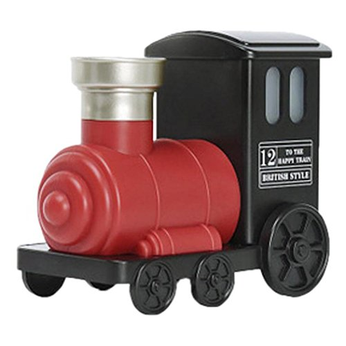 Cool Mist Humidifier, Inkach Aromatherapy LED Lamp Humidifier Train Shaped Air Diffuser Purifier Atomizer (Red)