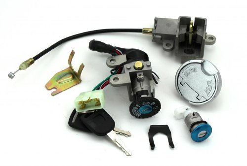 Scooter Ignition Switch Key Set 49 50 cc TaoTao Peace Roketa Jonway NST Tank Gy6