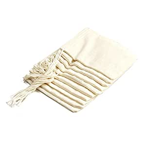 Bouquet Garni Mesh Cotton Self Closing Bags Self Closing, Set of 10
