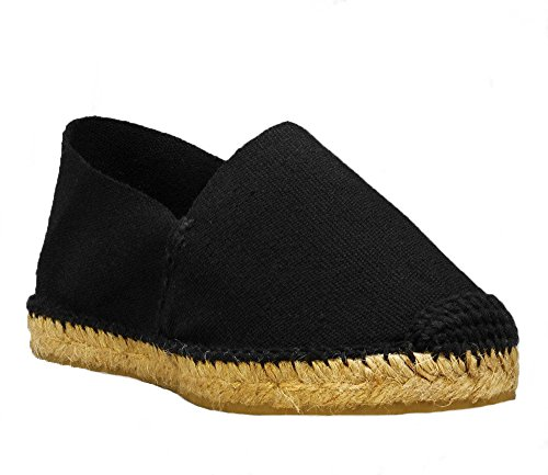 Spain DIEGOS in Women's Hand Men's Espadrilles Black Thread Black Made XXYHwr