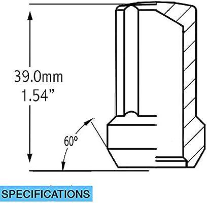Truck Spline 1.90 Long 5 Lug Blk 1 PC M14 1.5 Wheel Accessories Parts Install Kit Lugs Only