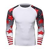 Fanii Quare Men's Soft Slim Long Sleeve Dry-Fit Compression Gym Trainning Shirt White 11 S Review