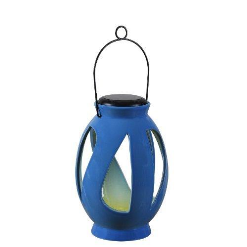 Kenroy Home 60525BLU Leaves Solar Lantern, Blue by Kenroy Home
