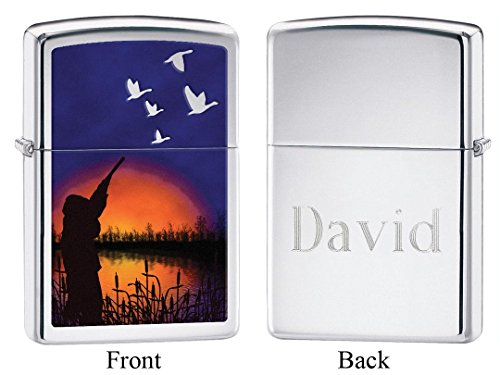 Personalized Duck Hunting Zippo Lighter with Free Engraving