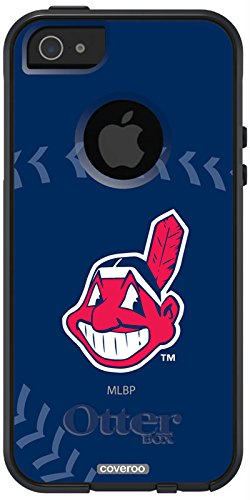 Coveroo Symmetry Series Cell Phone Case for iPhone 5s/5 - Retail Packaging - Cleveland Indians - Stitch Design (Iphone 5s Cleveland Indians Case)