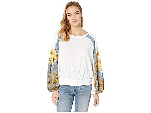 Free People Women's Casual Clash Top Ivory Medium from Free People