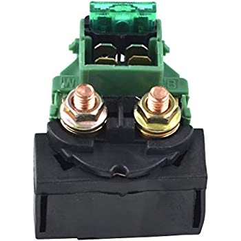 Amazon.com: Cyleto Starter Solenoid Relay for Kawasaki BAYOU ... on klt 200 wiring diagram, klt 250 wiring diagram, ke 125 wiring diagram, ke100 wiring diagram,