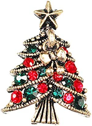 RoyalDS ヨーロッパやアメリカのクリスマスツリーのダイヤモンド三次元のブローチレトロ絶妙な合金クリスマスツリーリングのブローチクリスマスの日のギフトピンシンプルなジュエリー