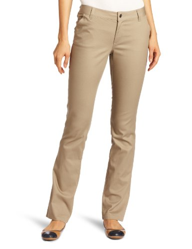 Lee Uniforms Juniors Curvey Straight Leg Pant, Khaki, 3