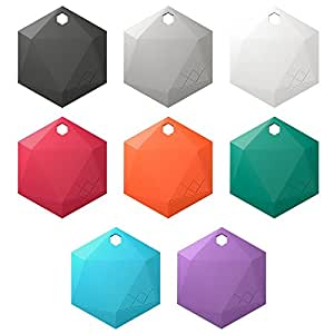 XY3.1 Item Finder by XY Findables | Find Your Lost Keys, Wallet, Phone, Etc | Low Energy 4.0 Bluetooth Tracker | Sleek Hex Design | QTY 8 (One of Each Color)