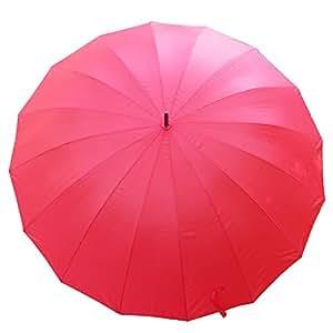 Rojo 16 color Panel 152,4 cm de paraguas de Golf