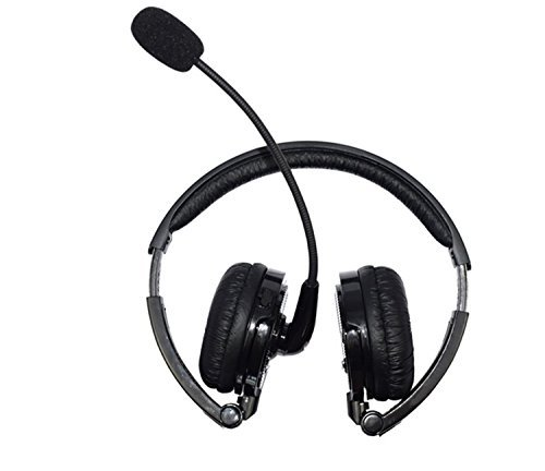 Bluetooth Headset,Pashion 2 In 1 Stereo Handsfree Headset Boom Mic Noise Canceling Wireless