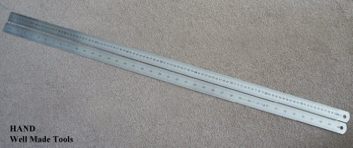 Get Solid, Precisely Marked Double Side Steel Ruler 1 meter, 100cm, 40inch Buy 1 Get 1 Free Offer! Well Made Tools
