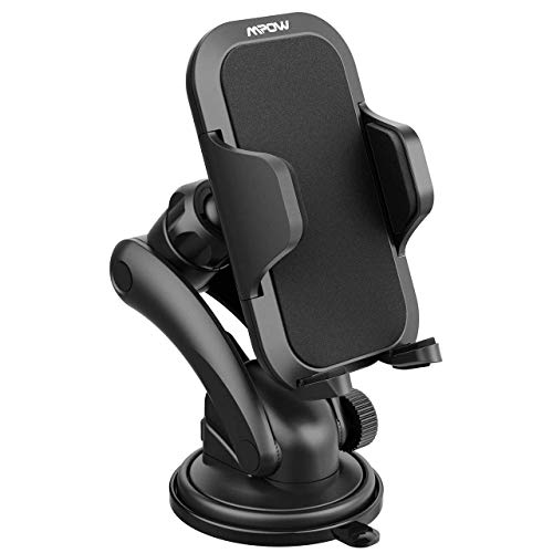Mpow Car Phone Holder, Universal Dashboard Car Phone Mount Holder/w One-Touch Design&Washable Strong Sticky Gel Pad for iPhone X/8/8Plus7/7P/6s/6P, Galaxy S8/S7/S6, Google, LG, Huawei and Other Phone
