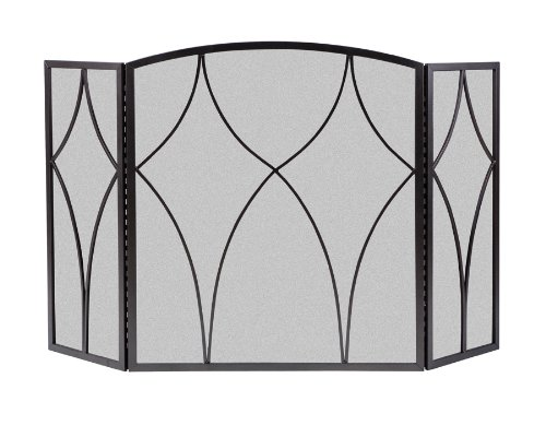 Panacea Products 15980 3-Panel Diamond Fireplace Screen