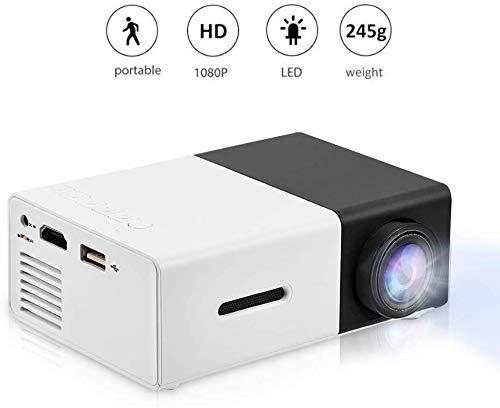 Beamer, Mini Beamer,LED Mini-Videoprojektor Tragbar Projektor Pico – Projektor handgeschützter LCD-Farb-Videoprojektor…