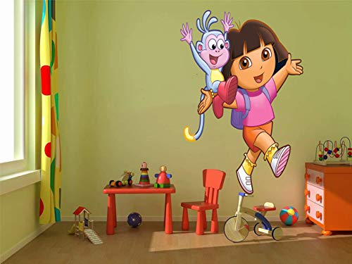 (Dora the explorer Boots 3D Window View Decal Graphic WALL STICKER Art Mural 18