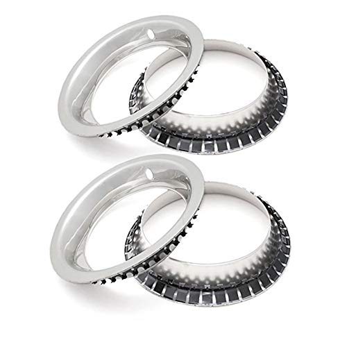 Eckler's Premier Quality Products 57337486 Chevy Rally Wheel Trim Rings 15 X 8 Stainless Steel by Premier Quality Products