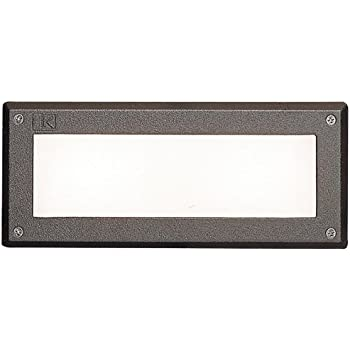 Kichler 15774azt Led Brick Light Low Voltage Deck And Patio Light Without Louvers Textured