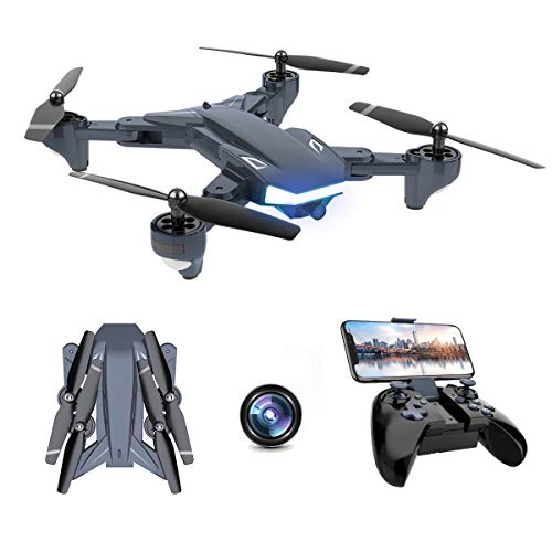 Supkiir WiFi FPV Drone, Foldable RC Quadcopter with 2K HD Camera for Adult, Portable Aircraft Toy for Beginners with…