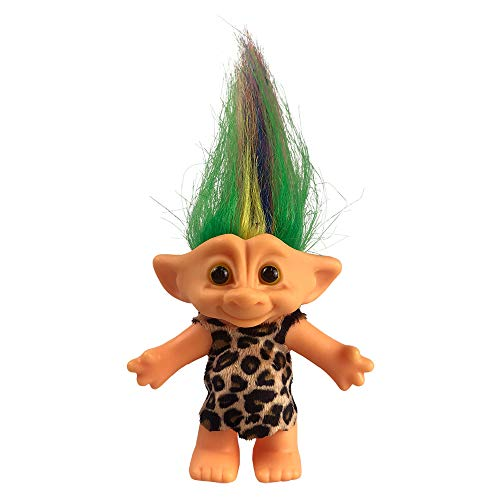 """Yintlilocn Lucky Troll Dolls,Vintage Troll Dolls Chromatic Adorable for Collections, School Project, Arts and Crafts, Party Favors - 7.5"""" Tall Colorful Hair (Include The Length of Hair)"""