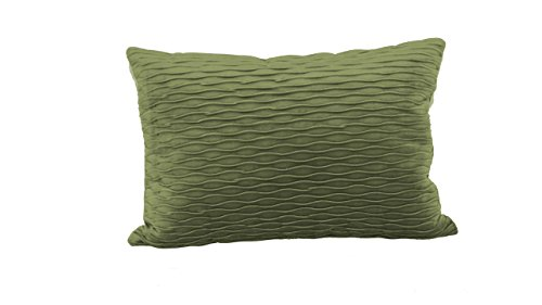 Brentwood Originals 6467 Ripple Plush Throw Pillow, Olive