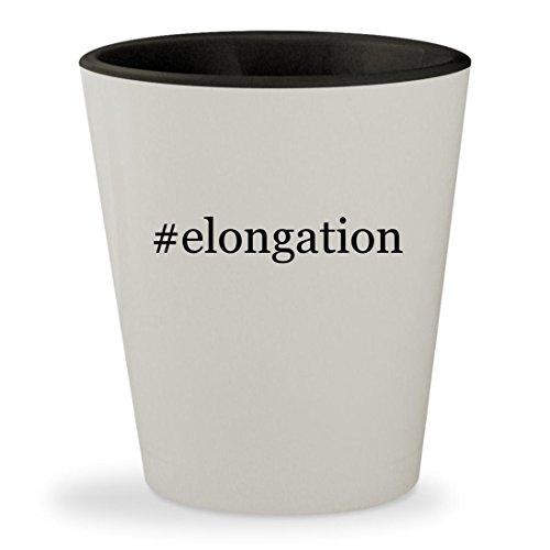 #elongation - Hashtag White Outer & Black Inner Ceramic 1.5oz Shot Glass - White Oak Riser
