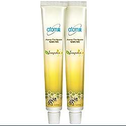 Atomy Toothpaste 2 Tubes 1.76 Oz Oral Care Propolis Green Tea Extract Herbal (50 g)
