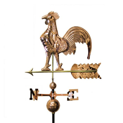 COPPER PLATED ROOSTER WEATHERVANE