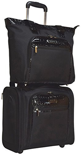 Kenneth Cole Reaction Croc 2-Piece Luggage Set: Wheeled Under Seat Carry-On and...
