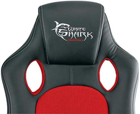 White Shark Gaming Chair Kings Throne Nero//Rosso taglia unica