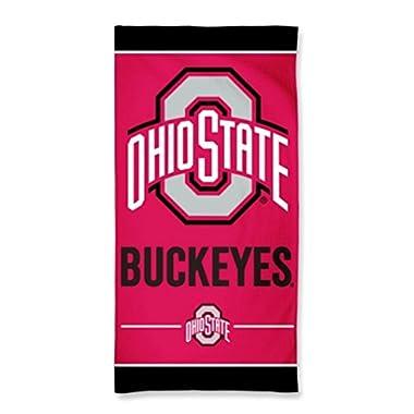 NCAA Ohio State University Buckeyes 30 x 60 inch Vertical Cotton Towel