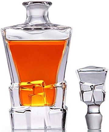 GAOXIAOMEI Decantador De Whisky Ice Cube Decantador Mediano De Licor para Licor, Cócteles, Escocés, Bourbon, Coñac Decantador De Licor Personalizado para Hombres, Papá, Esposo, Novio