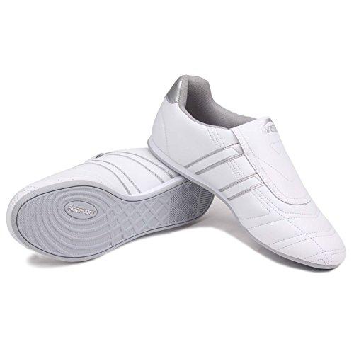 Slazenger guerriero da donna bianco/argento sneakers scarpe sportive calzature
