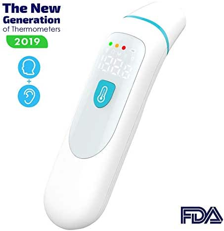 ANIKUV Medical Forehead and Ear Thermometer, Digital Baby Thermometer Suitable for Baby, Infant, Kids and Adults FDA Approved