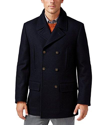 Lauren Ralph Lauren Men's Double-Breasted Solid Wool-Blend Peacoat - Navy - 46L
