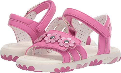 Geox Kids Baby Girl's Haiti Girl 2 Sandal (Toddler) Fuchsia 27 M EU