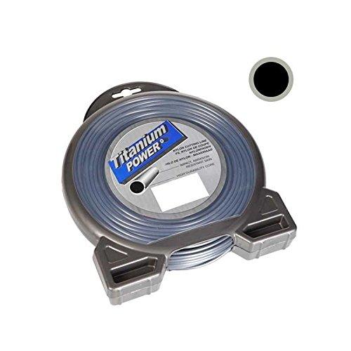 Fil d/ébroussailleuse nylon Titanium rond 2,5mm par 81m en coque
