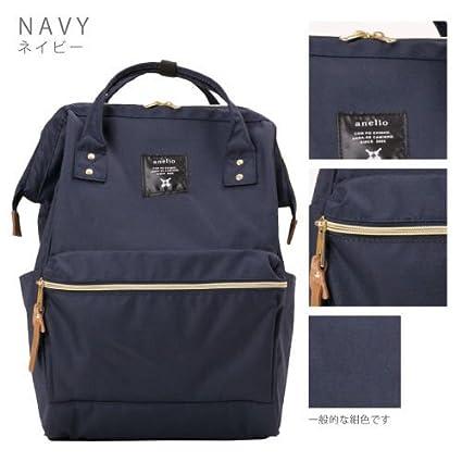 3 x de Japón Anello Original mochila mochila unisex lienzo calidad mochila escolar campus azul marino