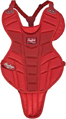 Rawlings Youth 15 Baseball Chest Protectors S - SCARLET YOUTH 15 (AGE 9-12) by Rawlings