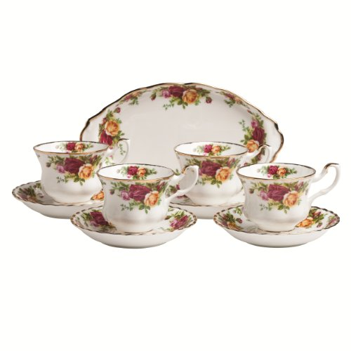 Royal Albert Old Country Roses 9-Piece Teaset Completer Set (Trim 9 Piece Set)