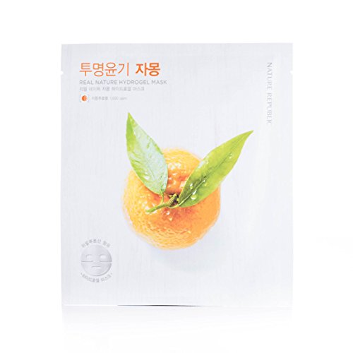 Nature Republic Real Nature Hydrogel Mask, Grapefruit, 5 Count - Grapefruit Mask