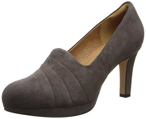 free shipping low price Clarks Women's Delsie Joy Dress Pump Dark Taupe Suede buy cheap new arrival clearance wide range of manchester great sale sale online discount factory outlet wnaVgtXohR