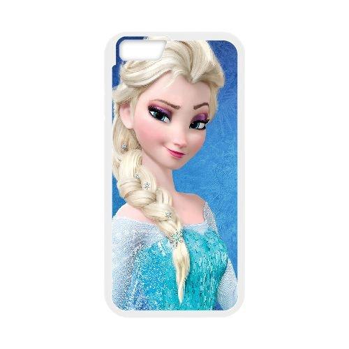 Elsa Frozen coque iPhone 6 Plus 5.5 Inch Housse Blanc téléphone portable couverture de cas coque EOKXLLNCD16891