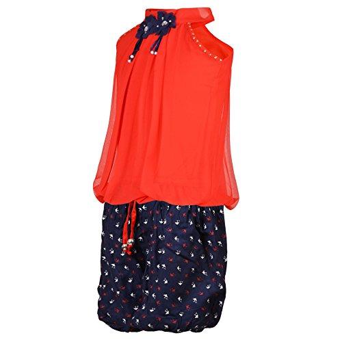 41GjjFWl6NL. SS500  - Aarika Girl's Chiffon Party Wear Top and Short Set