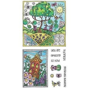 (Hampton Arts Color Me Clear Stamps ~ Tree)