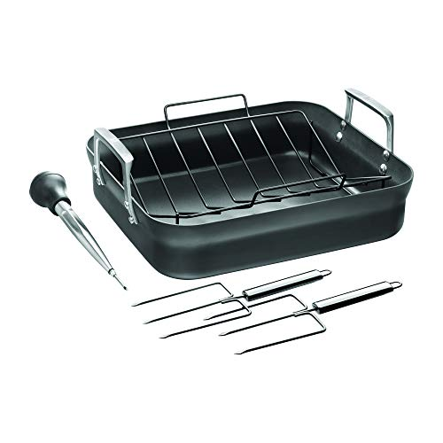 ZWILLING Motion Hard Anodized 16 x 14-inch Aluminum Nonstick Roaster Pan w/Rack & Tools