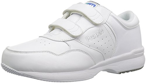 Propet Men's Life Walker Strap Sneaker,White, 12 X (US Men's 12 3E) wide
